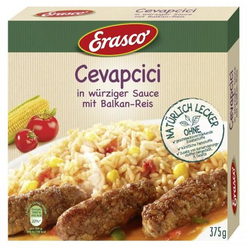 Erasco Cevapcici in würziger Sauce mit Balkan-Reis 375 g