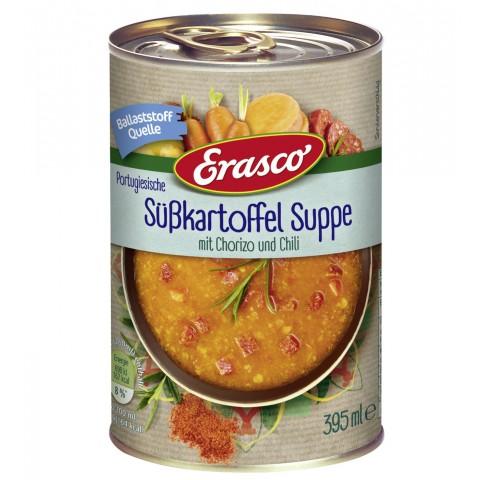 Erasco Portugiesische Süßkartoffel Suppe mit Chorizo und Chili 395 ml