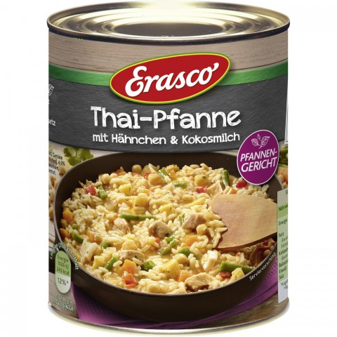 Erasco Thai-Pfanne mit Hähnchen und Kokosmilch 800 g