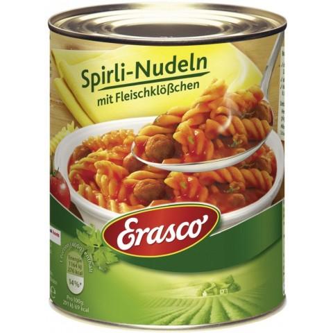 Erasco Spirli-Nudeln mit Fleischklößchen 800 g