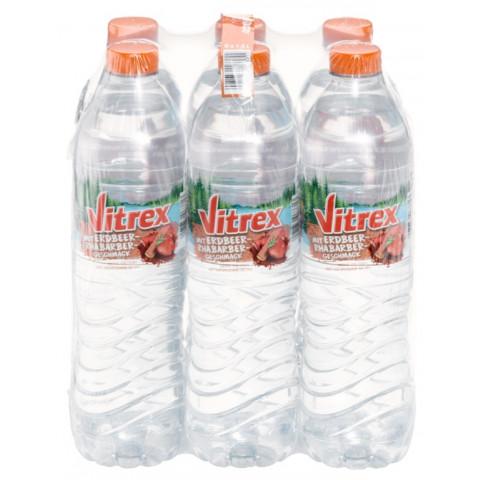 Vitrex Erdbeere-Rhabarber PET 6x 1,5 ltr