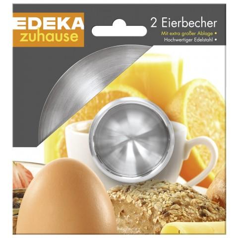 EDEKA zuhause Eierbecher Edelstahl