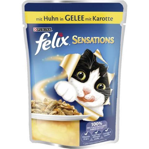 Felix mit Huhn in Gelee mit Karotte Nassfutter
