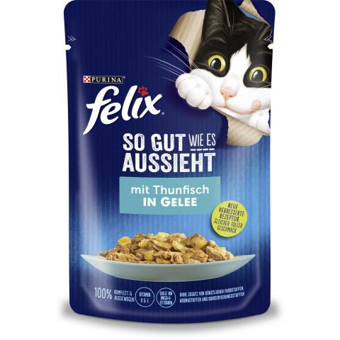 Felix so gut wie es aussieht mit Thunfisch in Gelee 85 g