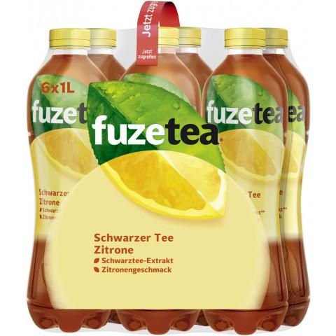 Fuze Tea Schwarzer Tee Zitrone 6x 1 ltr PET