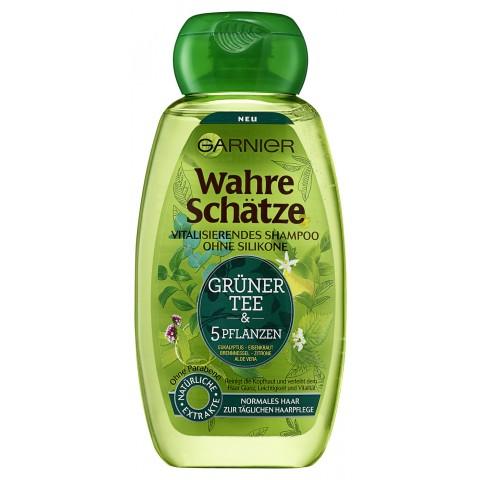 Garnier Wahre Schätze Grüner Tee & 5 Pflanzen Vitalisierendes Shampoo 250 ml