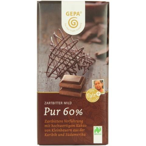 GEPA Bio Zartbitter Mild pur 60% Kakao