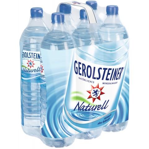 Gerolsteiner Mineralwasser Naturell PET 6x 1,5 ltr