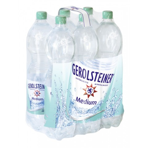Gerolsteiner Mineralwasser Medium PET 6x 1,5 ltr