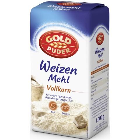 Goldpuder Weizen-Vollkornmehl