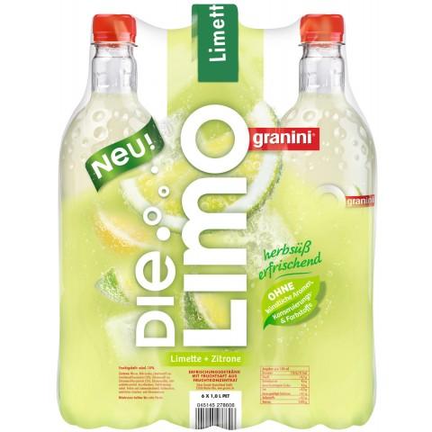 Granini Die Limo Limette+Zitrone 6x 1 ltr PET