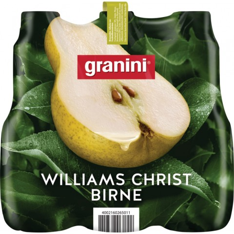 Granini Williams Christ Birne Nektar 6x 1 ltr PET