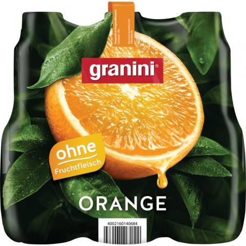 Granini Orange Saft ohne Fruchtfleisch 6x 1 ltr PET
