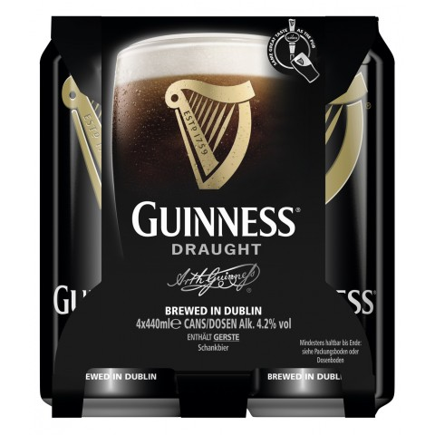 Guinness Draught mit Floating Widget Dose
