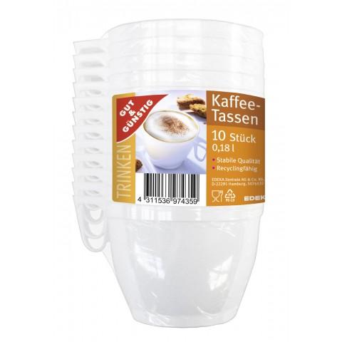 EDEKA Kaffeetassen 0,18l 10 Stück