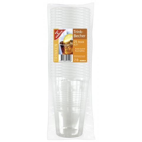 EDEKA Trinkbecher transparent 0,2 l