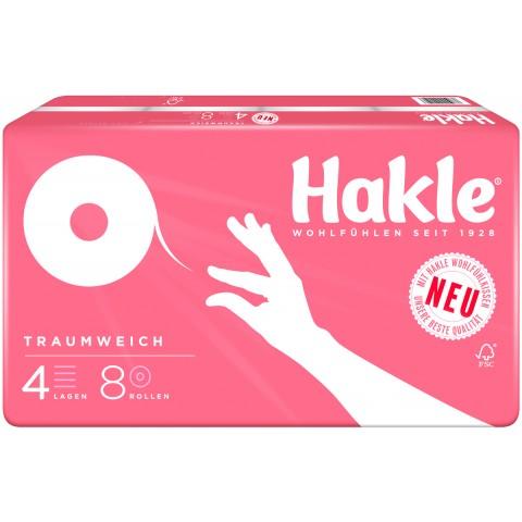 Hakle Toilettenpapier Traumweich 4-lagig 8x 130 Blatt
