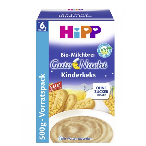 Hipp Bio-Milchbrei Gute Nacht Kinderkeks ab dem 6. Monat