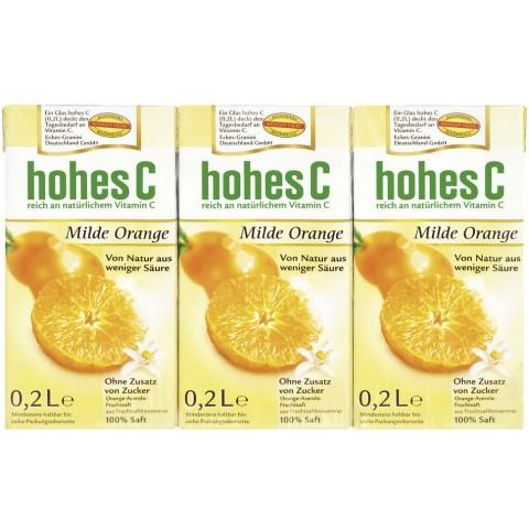 Hohes C Milder Orangensaft 3x 200 ml
