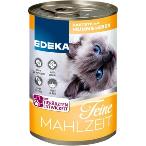 EDEKA Feine Mahlzeit Huhn & Leber Katzenfutter nass 400 g