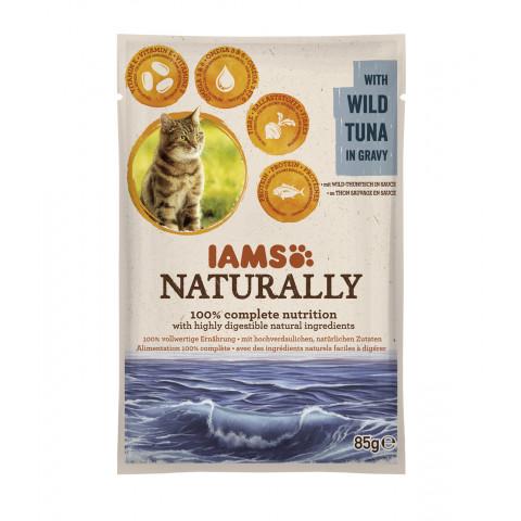 IAMS Naturally mit Thunfisch Katzenfutter nass 85G