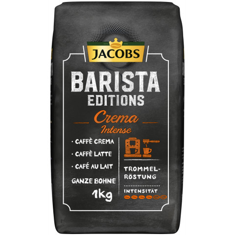 Jacobs Barista Editions Kaffee Crema Intense Bohne 1kg