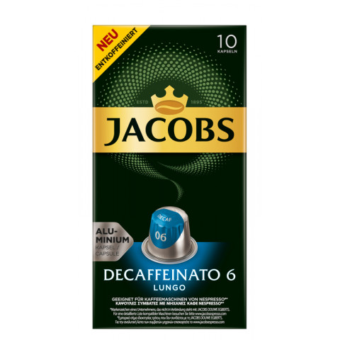Jacobs Kaffeekapseln Lungo 6 Decaffeinato 10x 5,2 g