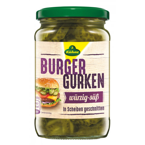 Kühne Burger Gurken 330 g