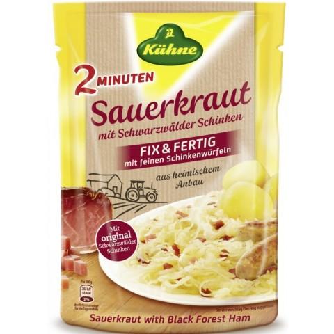 Kühne 2 Minuten Sauerkraut mit feinen Schinkenwürfen 400 g