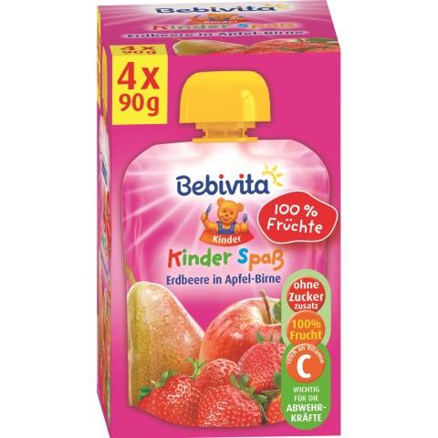 Bebivita Kinder Spaß Erdbeere in Apfel-Birne ab 1 Jahr