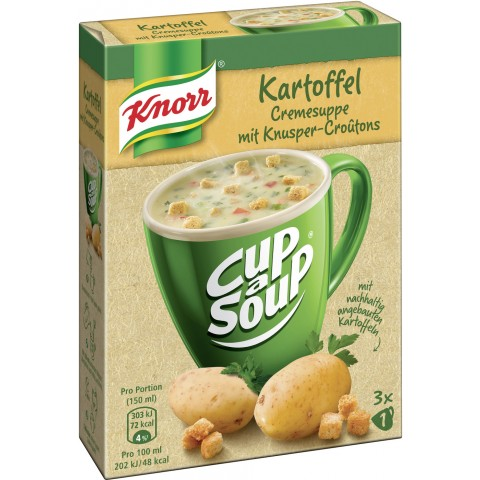 Knorr Cup a Soup Kartoffel Cremesuppe mit Knusper-Croutons