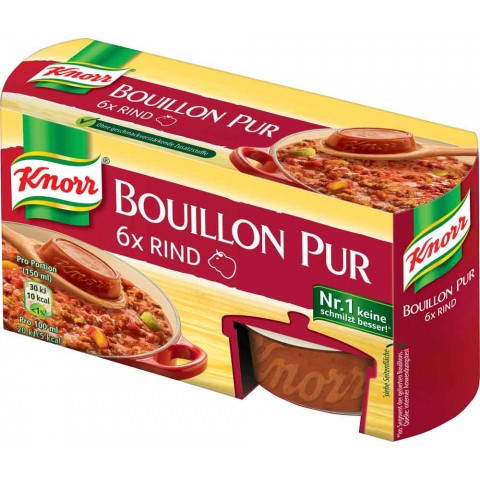 Knorr Bouillon Pur Rind 6x 28 g