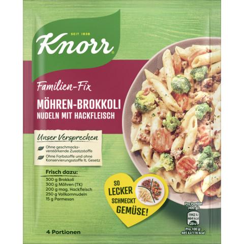 Knorr Familien-Fix Möhren-Brokkoli Nudeln mit Hackfleisch 46 g