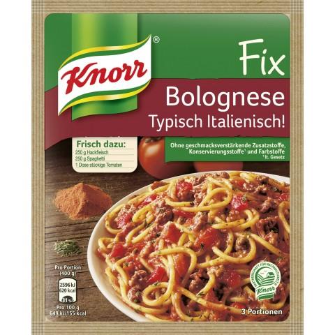 Knorr Fix für Bolognese Typisch Italienisch