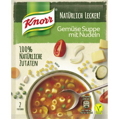Knorr Natürlich Lecker Gemüse Suppe mit Nudeln