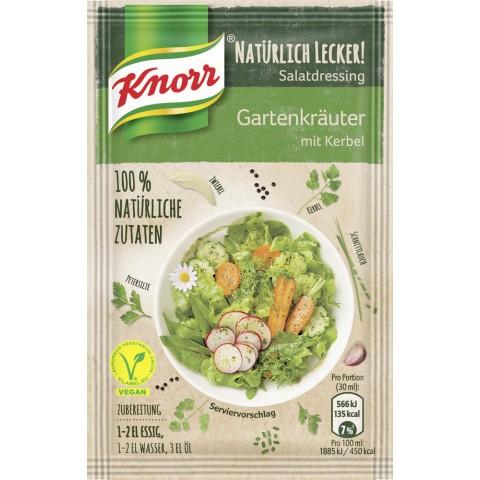 Knorr Salatkrönung Natürlich Lecker! Gartenkräuter mit Kerbel 3x 9 g