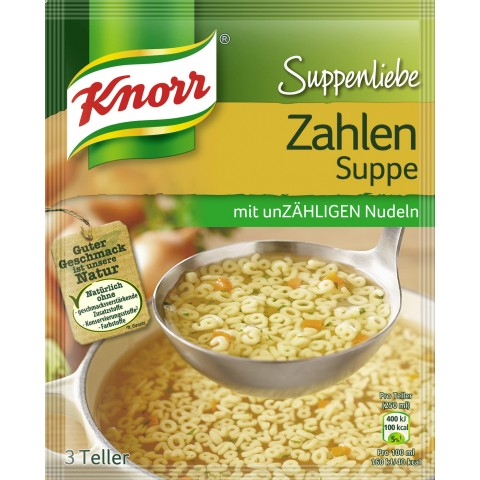 Knorr Suppenliebe Zahlen Suppe 84 g