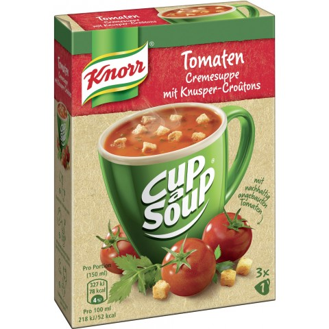 Knorr Cup A Soup Tomaten Cremesuppe mit Knusper-Croutons