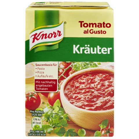 Knorr Tomato Al Gusto Krauter Sauce 370 G