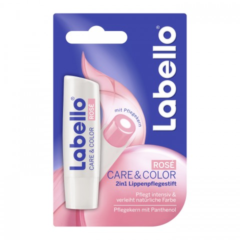 Labello 2 in 1 Lippenpflegestift Care & Color Rosé