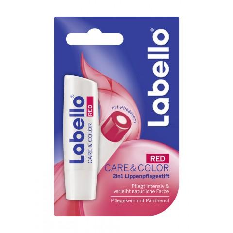 Labello 2 in 1 Lippenpflegestift Care & Color Red
