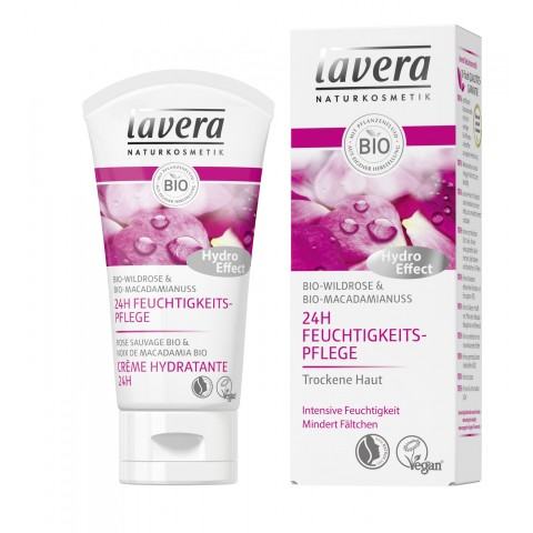 lavera Naturkosmetik 24h Feuchtigkeitspflege Wildrose 50 ml