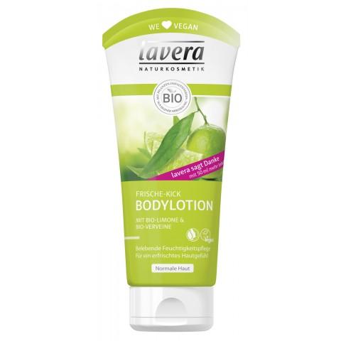 lavera Naturkosmetik Frische-Kick Bodylotion mit Bio-Limone & Bio-Verveine 200 ml
