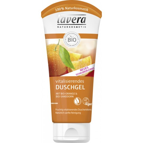 lavera Naturkosmetik Vitalisierendes Duschgel mit Bio-Orange & Bio-Sanddorn
