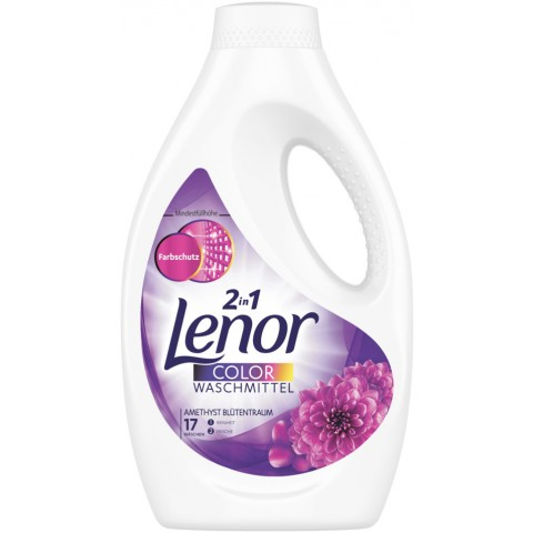 Lenor Color-Waschmittel Flüssig Amethyst-Blütentraum 935 ml