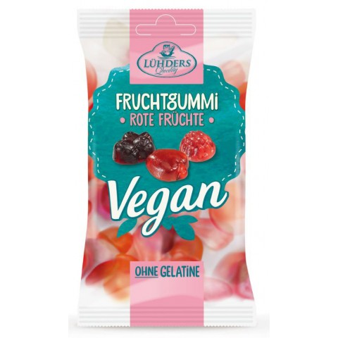 Lühders Fruchtgummi Rote Früchte Vegan 80 g