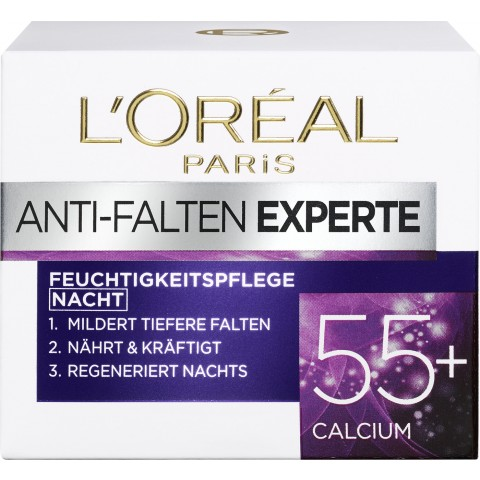 L'Oreal Anti-Falten Experte Feuchtigkeitsplage 55+ Calcium Nacht 50 ml