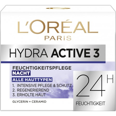L'Oreal Hydra Active 3 Feuchtigkeitspflege Nacht 50 ml