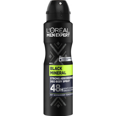 L'Oreal Men Expert 48H Black Mineral Deospray 150ML