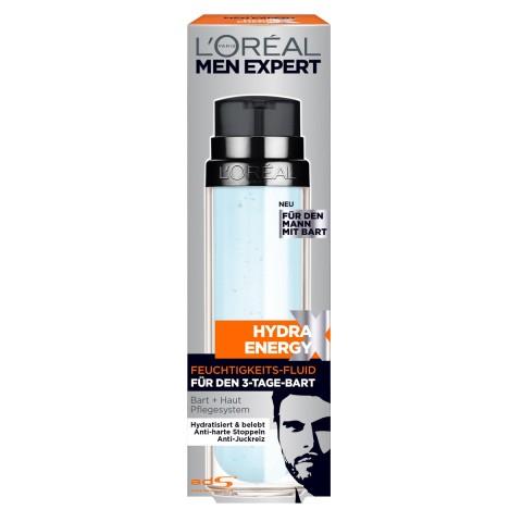 Loreal Men Expert Hydra Energy Feuchtigkeits-Fluid für Gesicht und 3-Tage-Bart